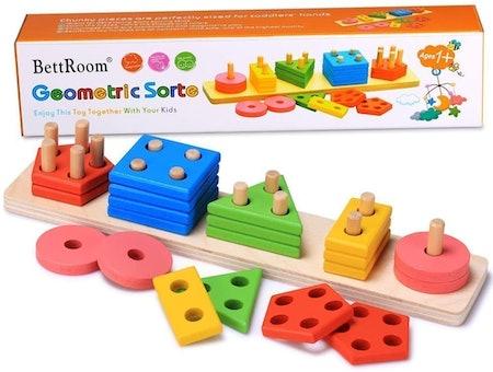 BettRoom Geometric Sort Wooden Educational Toy