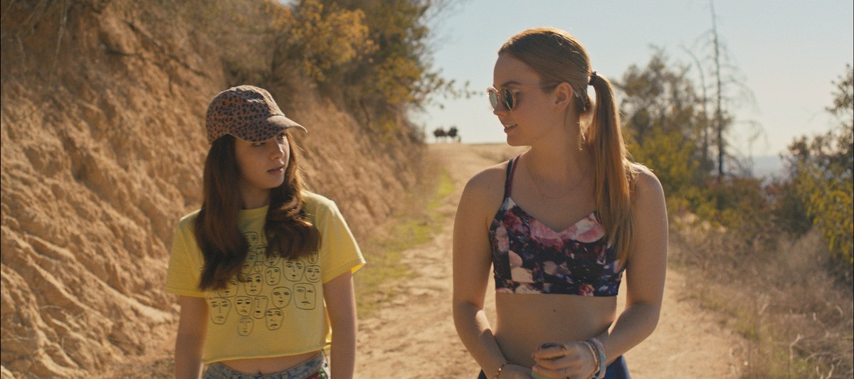 """L - R) Hannah Marks as April and Liana Liberato as Clara in the comedy, """" BANANA SPLIT ,"""" a Vertical Entertainment release."""
