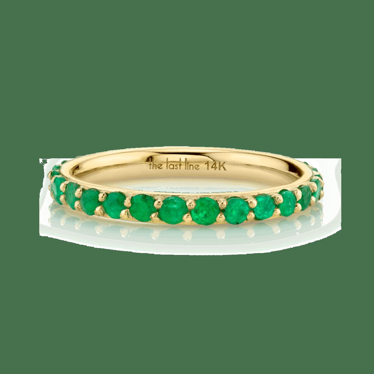 Emerald Biggie Eternity Band