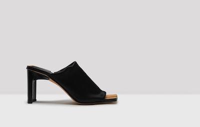 Acadia Black Stretch Lycra Sandals