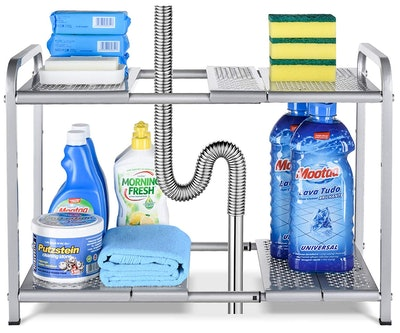 Bextsware Under Sink 2-Tier Expandable Shelf
