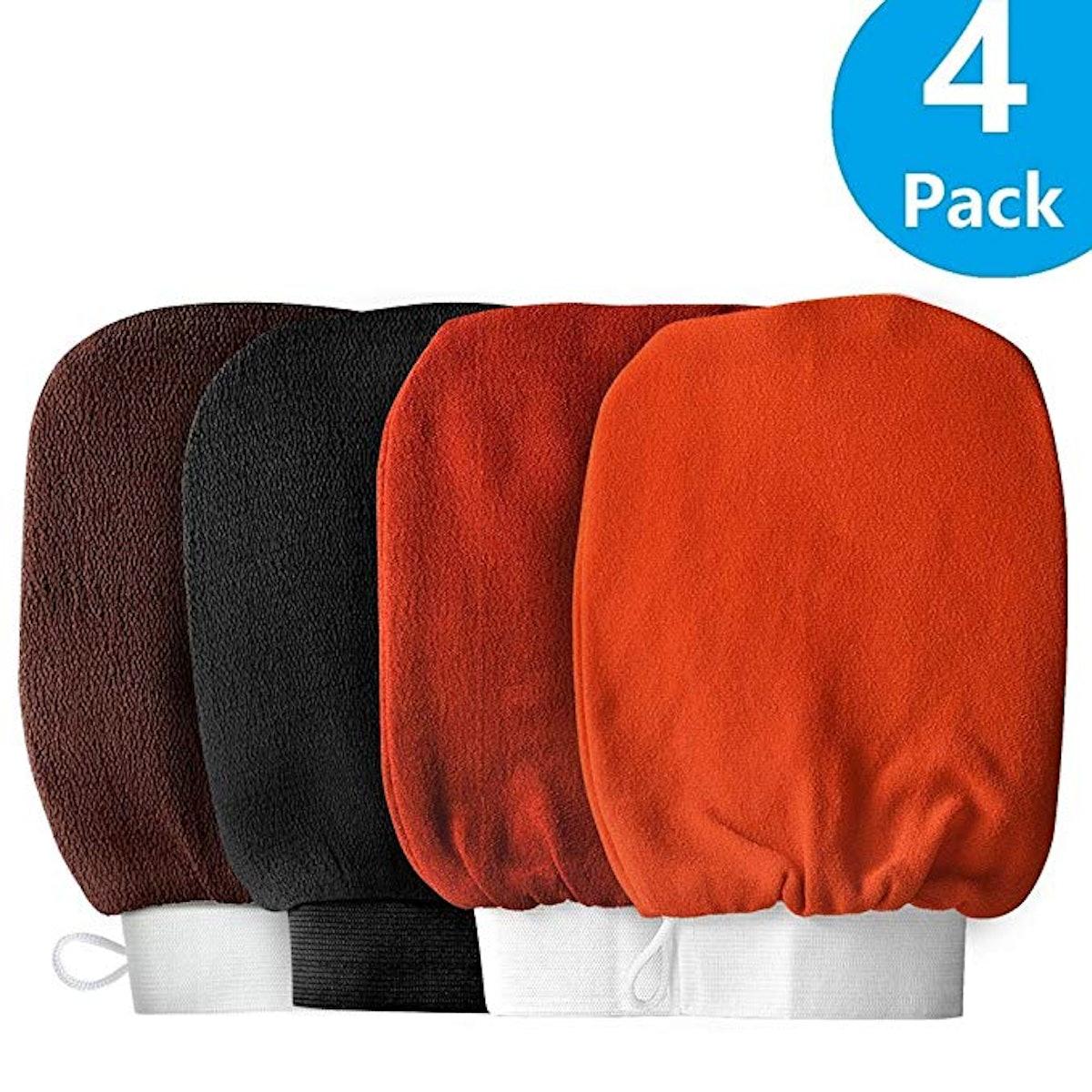 FBasics Exfoliating Hammam Gloves (4-Pack)