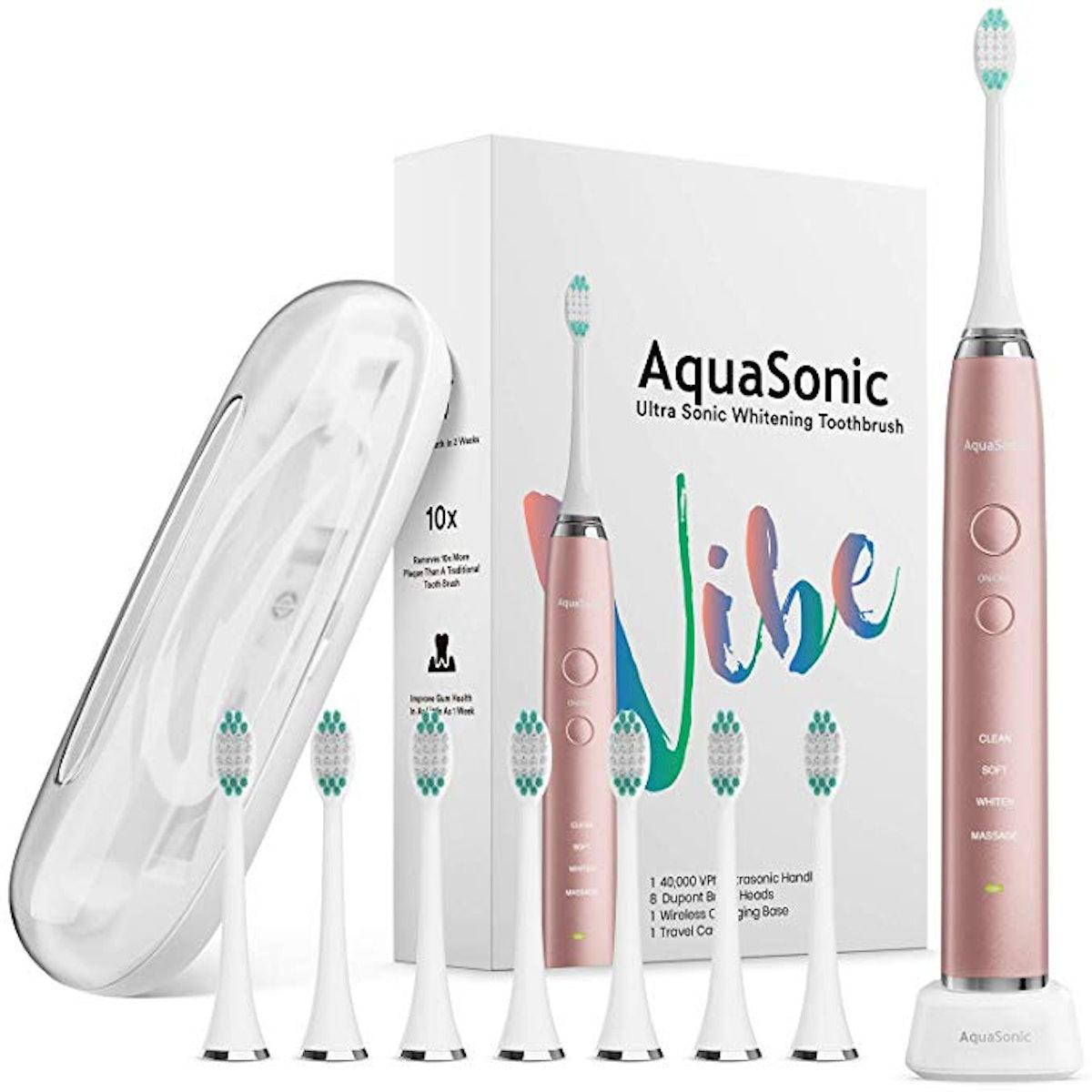 AquaSonic Ultra Whitening Electric Toothbrush