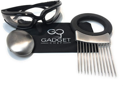 Gadget Chef Onion Goggles and Onion Holder Set