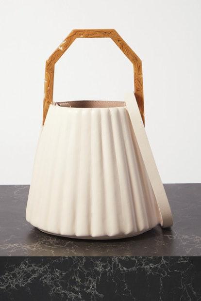 Alez small pleated leather bucket bag