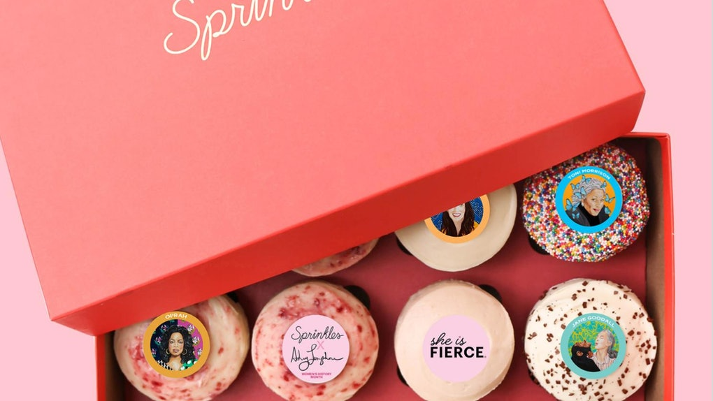 The Sprinkles X Ashley Longshore Women's History Month Cupcakes include everyone from Wonder Woman to Michelle Obama.