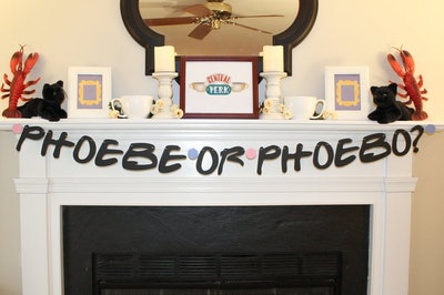 Phoebe or Phoebo Friends Baby Shower Banner
