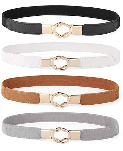 WERFORU Skinny Belt (4 Pieces)