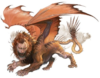 Manticore Dungeons and Dragons
