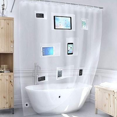 Better Than Bubbles Tech Friendly Shower Curtain