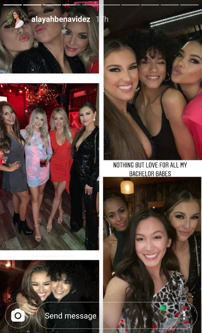 collage of photos of Peter's Bachelor contestants hanging out after Women Tell All