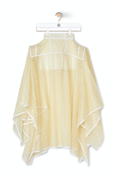 Basque Lace Skirt Yellow