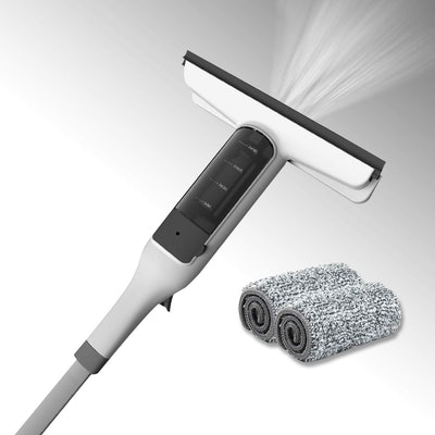 JEHONN Spray Window Squeegee Cleaner with Scrubber