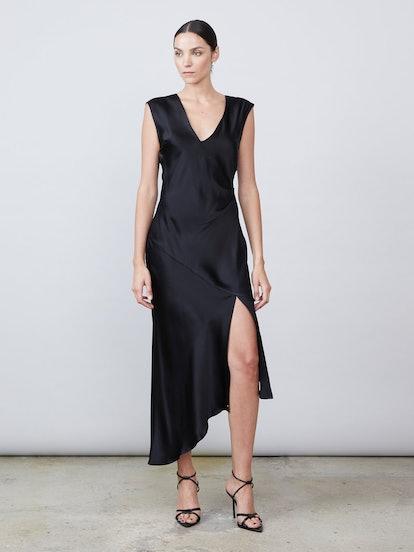 Desiree Deep-V Silk Dress