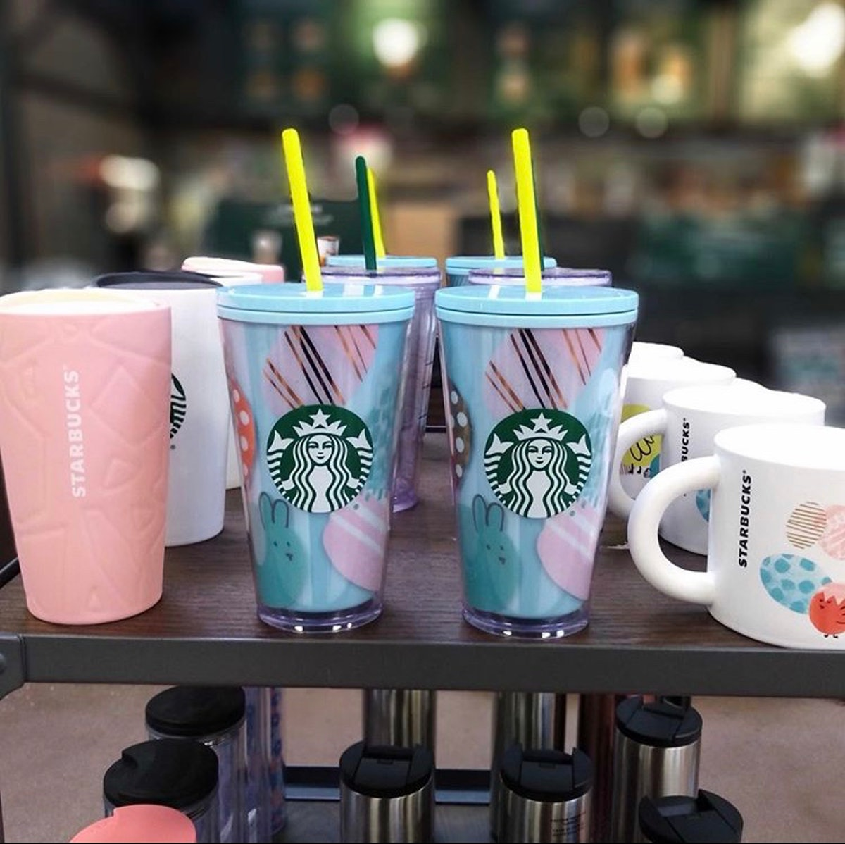 Starbucks' Spring 2020 Cold Cups and Tumblers include Easter-inspired designs.