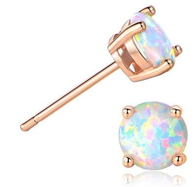 GEMSME Opal Stud Earrings