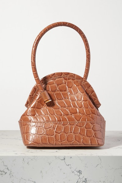 Isel croc-effect leather tote