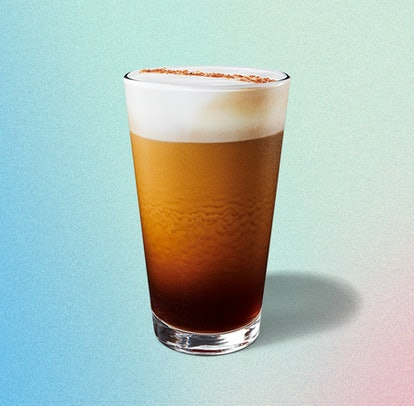 Along with its two new non-dairy drinks, Starbucks introduced a new Nitro Cold Brew with Salted Honey Cold Foam.