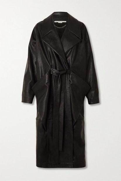 Belted Vegetarian Leather Coat