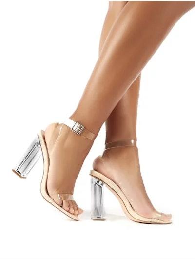 Public Desire Alia Clear Strap Heeled Sandals