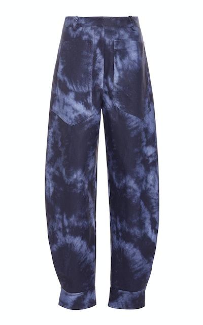 Sculpted Tie-Dye Rubberized Pants