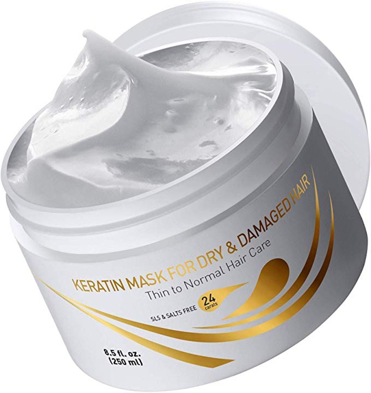 Vitamins Hair Cosmetics Keratin Hair Mask Deep Conditioner