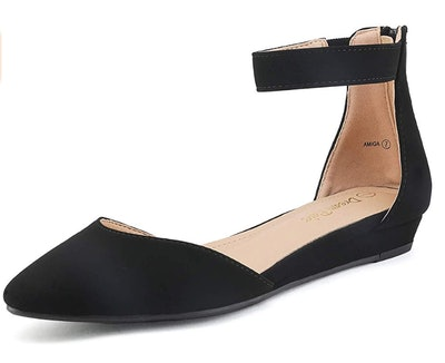 DREAM PAIRS Low Wedge Flats