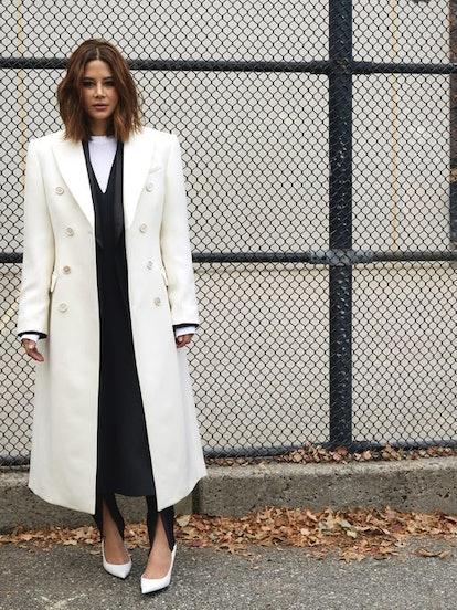 Release 05 Double-Breasted Merino-Wool Coat