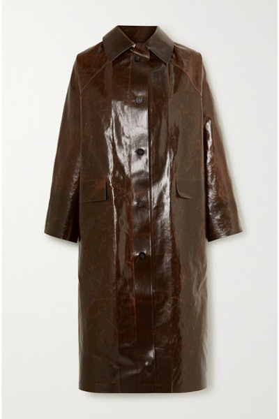 Skai Coated Cotton-Blend Coat