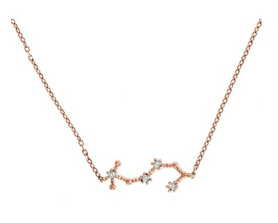 PAVOI 14K Gold Plated Zodiac Necklace