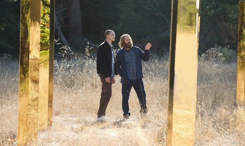 Karl Glusman as Segei and Nick Offerman as Forest in 'DEVS' Episode 1