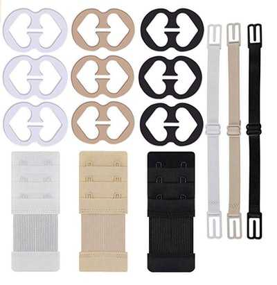 W-Plus Bra Strap Clips and Extenders (9-Pieces)