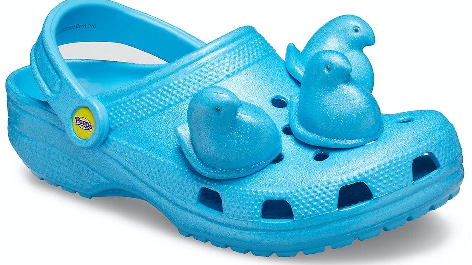 Peeps x Crocs electric blue clog