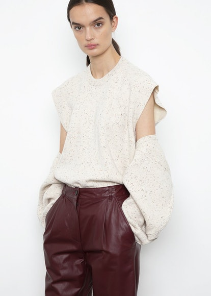 Flecked Two-Piece Sweater