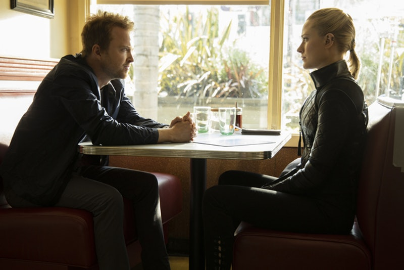 Caleb and Dolores discussing Rehoboam on 'Westworld.'
