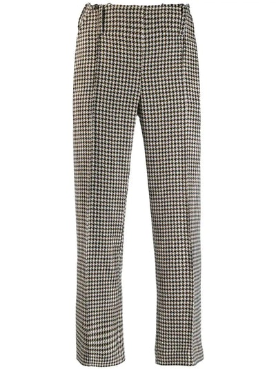 Houndstooth Check Cropped Trousers