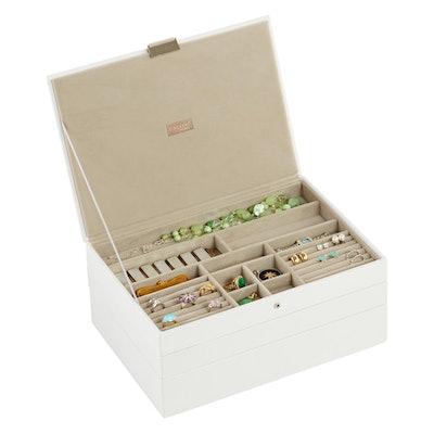 White Supersize Stackers Premium Jewelry Storage Kit