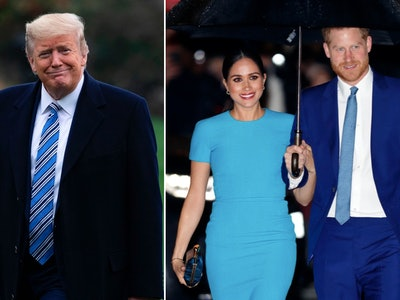 Prince Harry and Meghan Markle responded to President Trump's tweet about not providing them with security