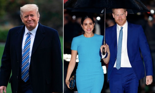 Prince Harry and Meghan Markle responded to President Trump's tweet about not providing them with se...