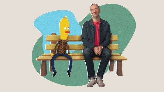 Tony Hale, star of Archibald's Next Big Thing on Netflix, chats with Romper about how his chicken character inspires him.