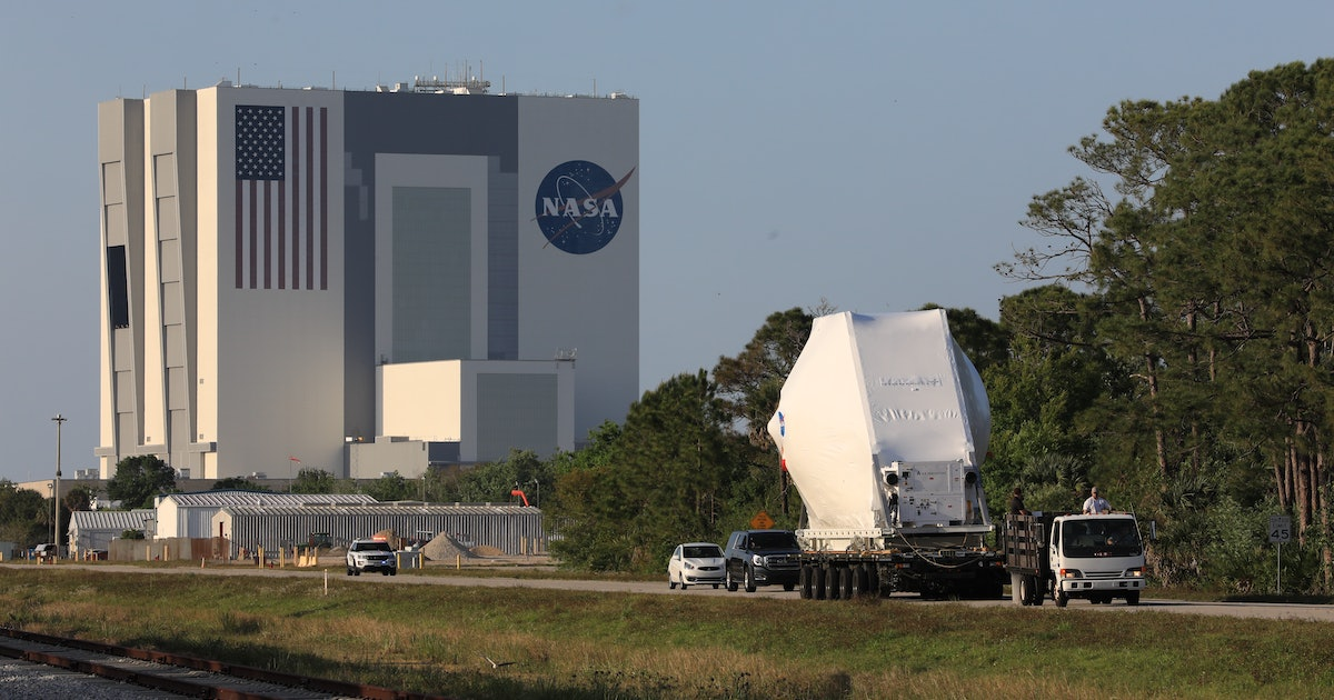 NASA's Orion spacecraft makes a final stop before heading to the Moon