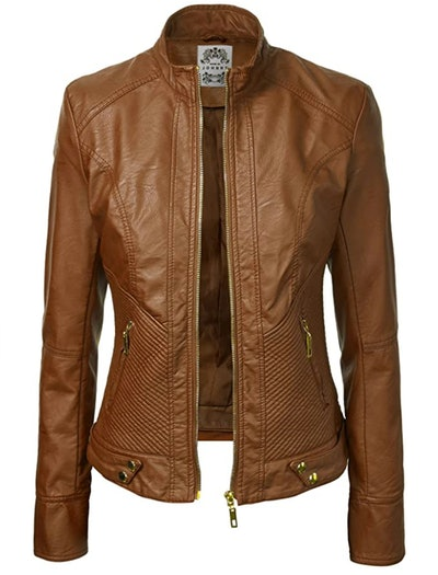 Lock And Love  Quilted Biker Jacket