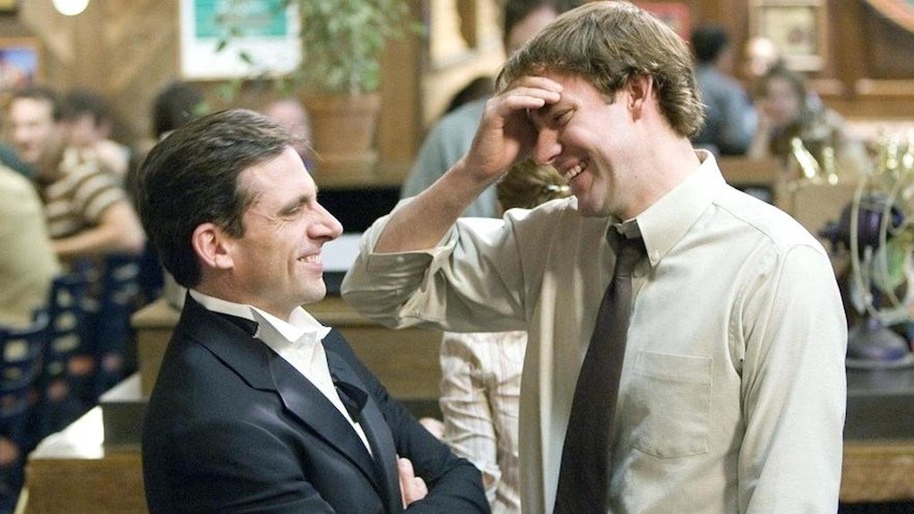 John Krasinski and Steve Carell reunited virtually for the 15th anniversary of 'The Office.'