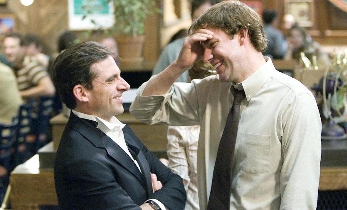 John Krasinski and Steve Carell reunited virtually for the 15th anniversary of 'The Office.'