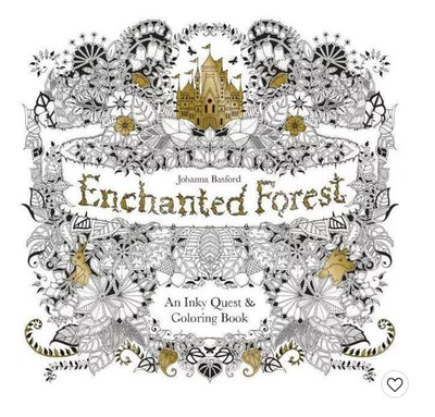 Johanna Basford Enchanted Forest: An Inky Quest and Coloring Book