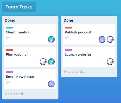 This app is a visual organizer perfect for working from home.