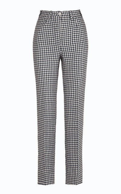 Altea Houndtooth Linen Trousers