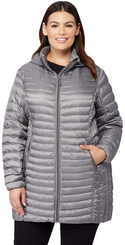 32 DEGREES Womens Ultra-Light Down Long Packable Jacket