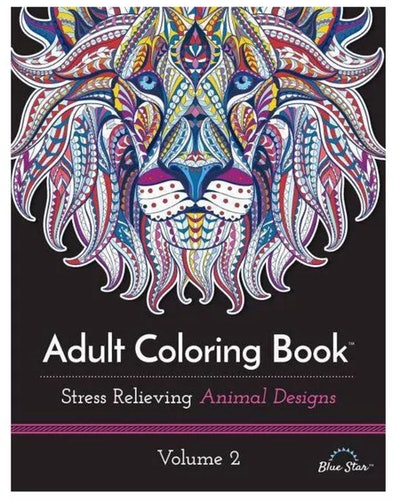 BlueStar Adult Coloring Book: Stress Relieving Animal Designs