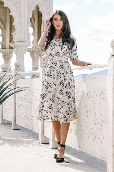 Tia Floral Midi Dress